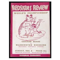 NFL Championship Chicago Bears Washington Redskins Program